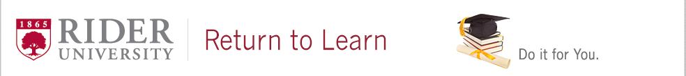 Rider University's Return to Learn Program for Adult Learners
